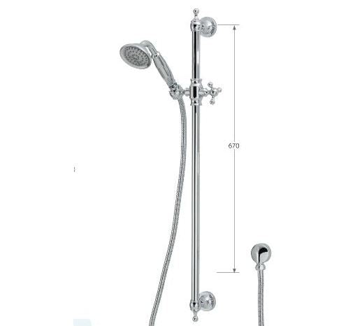 Lillian rail Shower - Chrome