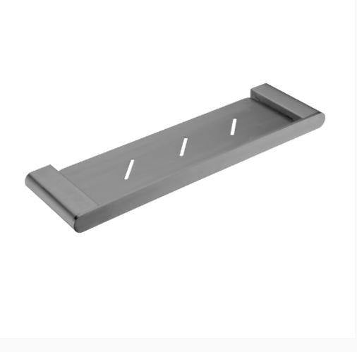 Ecco Metal shelf - Brushed Nickel - Bayside Bathroom