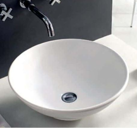 Eternal Above Counter Basin - White Gloss