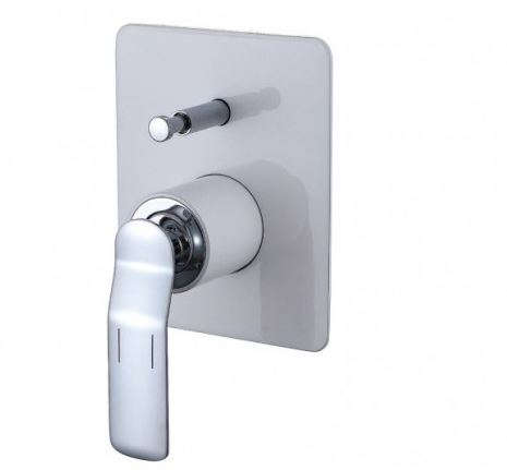 Synergii Shower or Bath Mixer with Diverter Button - Brushed Nickel
