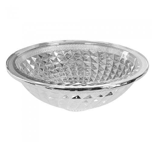 Diamond Glass Basin - Silver