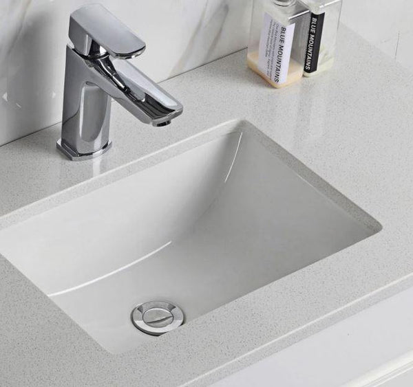 Grey Quartz Undermout Basin Stone Top - Bayside Bathroom