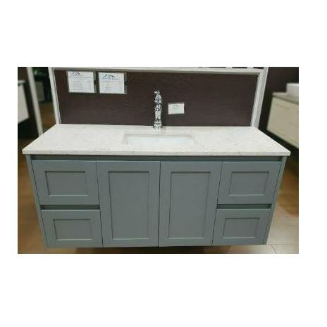 Quinn 1200mm Matte Grey Wall hung vanity