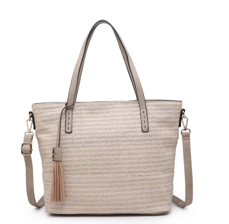 August Tote White Gold