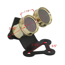 Load image into Gallery viewer, 12 Volt Motorcycle Whisky Brass Dual Tail Light Fender Mount For Cafe Racer Streetfighter SR-500, Street Racer Or Chopper