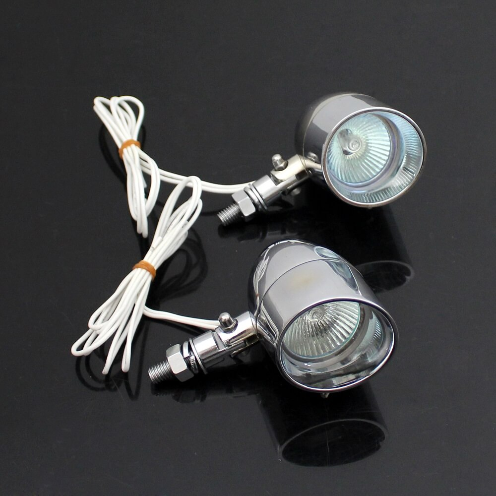 1Pair Motorcycle Fog Light 5W Spotlight Lamp for Harley Cafe Racer Chopper