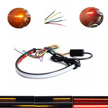 Load image into Gallery viewer, 29cm 45cm 60cm Motorcycle Sequential Switchback Flowing LED Tail Brake Turn Signal Strip light Running Light Red Amber Color