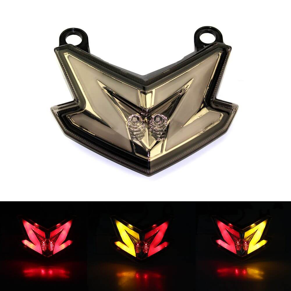 3 Color Motorcycle LED Red Stop Light Taillight Rear Lamp For Kawasaki Z800 Ninja ZX6R 636 2013 2014