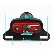 Load image into Gallery viewer, 4 Colors Motorcycle LED Tailight Tail Light Rear Light w/ License Plate Light For Honda Triumph Bonneville BSA Norton Scrambler Lucas