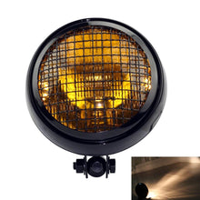 "Load image into Gallery viewer, 5.75"" Vintage Mesh Grill Guard Headlight Sealed Beam  Headlamp for Harley Triumph Chopper Cafe Racer Scrambler"