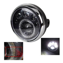 "Load image into Gallery viewer, 7"" Headlight Round Motorcycle LED  E-mark 12V LED Motorcycle Head lights Vision Lamp Headlamp For Chopper Bobber"