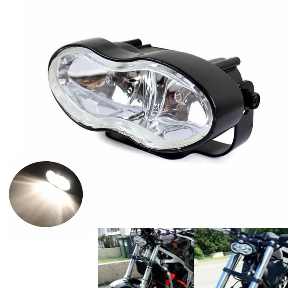 Adjustable Oval Twin Headlight Motorcycle Universal  Headlight For Harley Custom Streetfighter Cafe Racer Headlamp