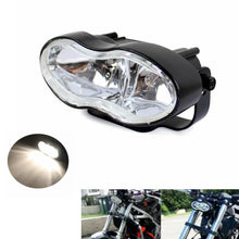 Load image into Gallery viewer, Adjustable Oval Twin Headlight Motorcycle Universal  Headlight For Harley Custom Streetfighter Cafe Racer Headlamp
