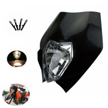 Load image into Gallery viewer, Black Dual Sport Motocross Headlight Dirt Bike Head Light for EXC XC 300 500 250 690 2013-2017