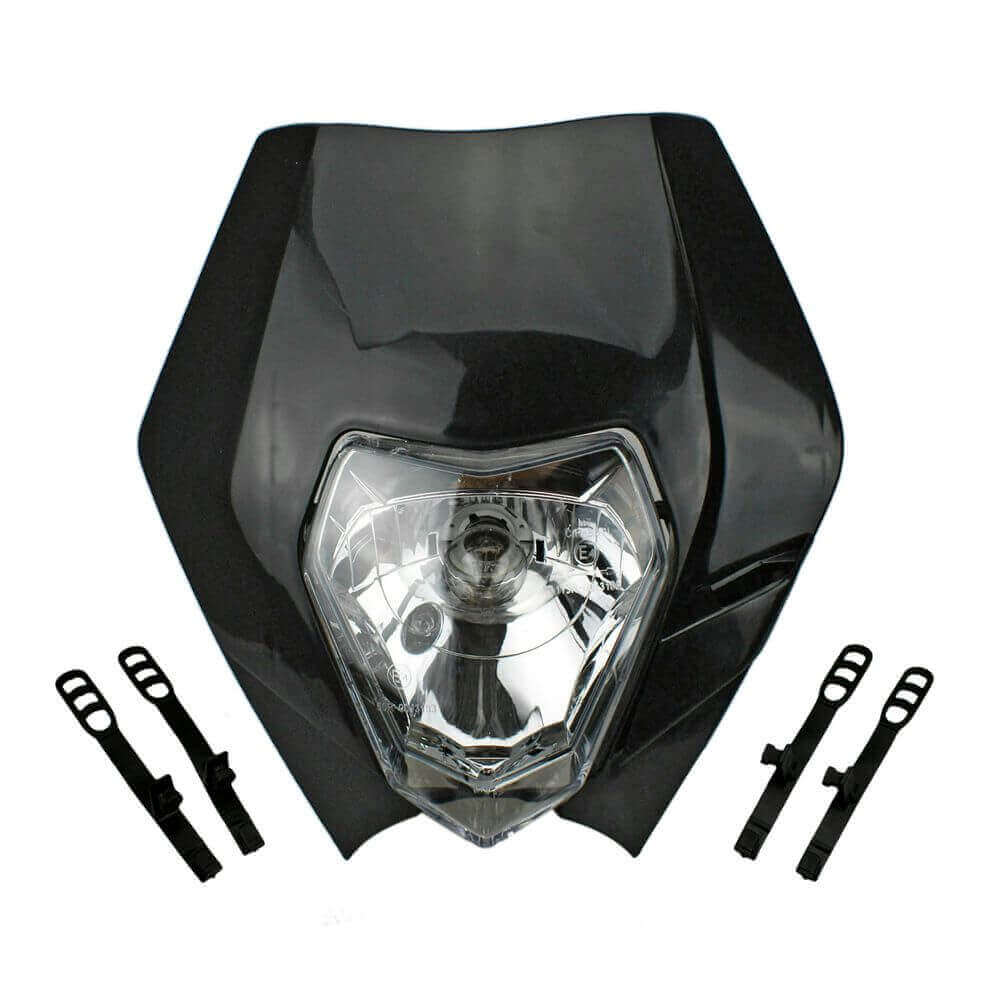 Black Dual Sport Motocross Headlight Dirt Bike Head Light for EXC XC 300 500 250 690 2013-2017