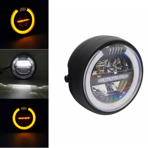 Black Round LED E-Mark E8 7