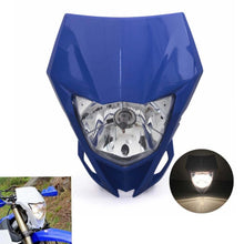 Load image into Gallery viewer, Blue Motorcycle Dual Sport Headlight Fairing Head Lamp For Yamaha YZ YZF WR WRF 125 230 250 450 250F 450F MX Enduro