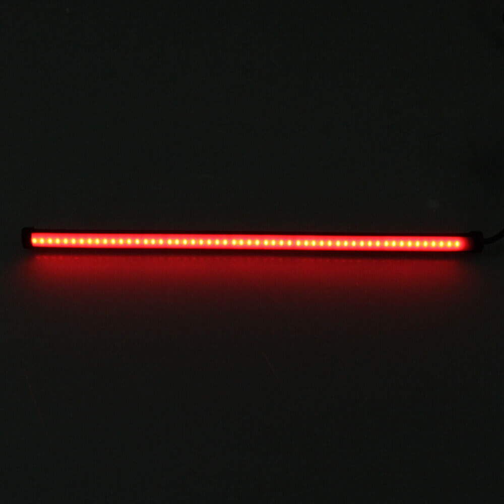 "Car Motorcycle DRL LED Sequential Light Strip Flowing Switchback Brake Lights Red Amber Flasher 17.7"" Knight Rider Turn Signal"