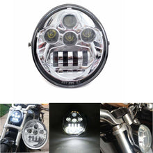 Load image into Gallery viewer, Chrome Motorcycle E9 Marked Hi/Lo Beam LED Headlight Head Lamp For Harley V-Rod VRSC VRSCF VRSCAW DOT