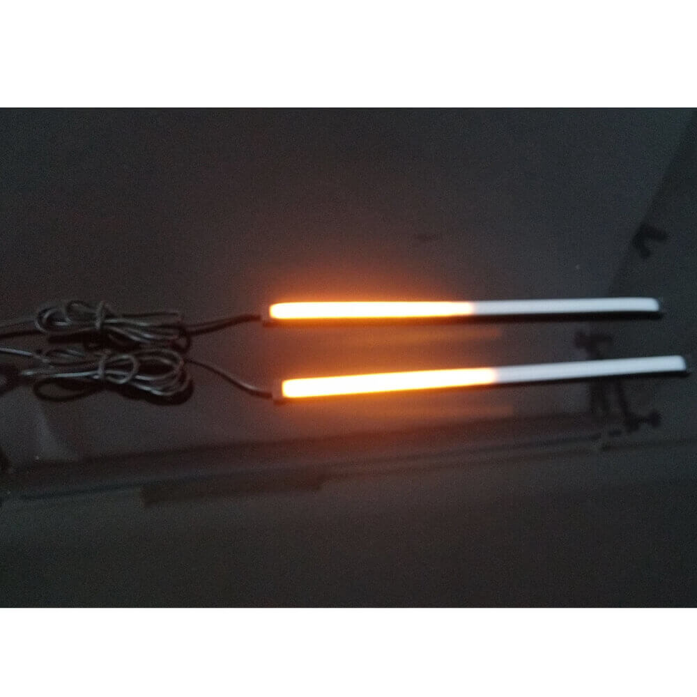 Dual Sequential Lights Strip Red w/Amber Motorcycle Car LED Switchback Flowing Tail Brake Light Turn Signal Tube Universal
