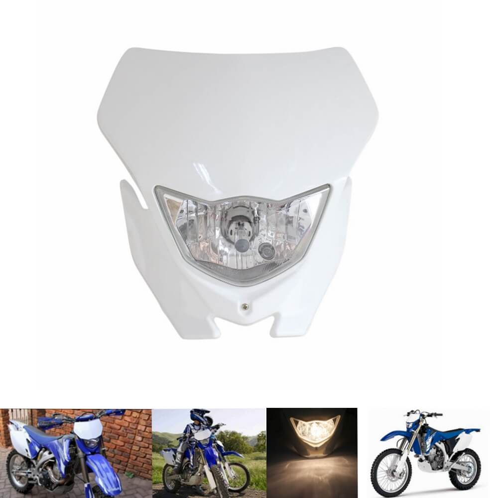 Enduro MX Supermoto 12v 35w Headlight Fairing Universal Motocross Headlamp Mask For Yamaha XT WRF YZF TTR 125/225/250/450/500