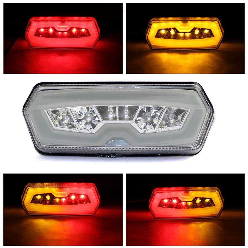 Integrated Motorcycle LED Turn Signal Tail Light Clear Lens For HONDA MSX Grom 125 CB 650 F CBR 650 F CTX 700 N 2013 2014 2015 2016