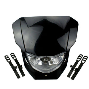 Motocross Headlight Fairing For Yamaha XT WR YZ TTR WRF 125/230/250 Supermoto Universal