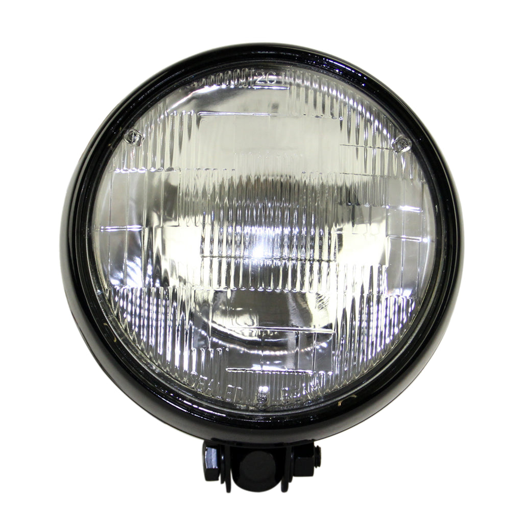 "Motorcycle  5-3/4"" Retro Yellow Headlight 5.75 inch Sealed Beam Lamp For Triumph Scrambler Bobber Harley Chopper"