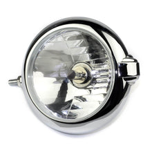 "Load image into Gallery viewer, Motorcycle H4 New Vintage Unity 5 1/4"" Chrome Headlight Lamp For Harley Triumph Bobber Chopper"