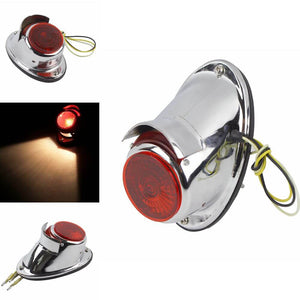 Motorcycle Replica Classic Taillights Brake Stop Lamp Ural Chrome Sidecar Indicator Lighting for BMW K750 KS750 DB DS M72 R75 Zündapp