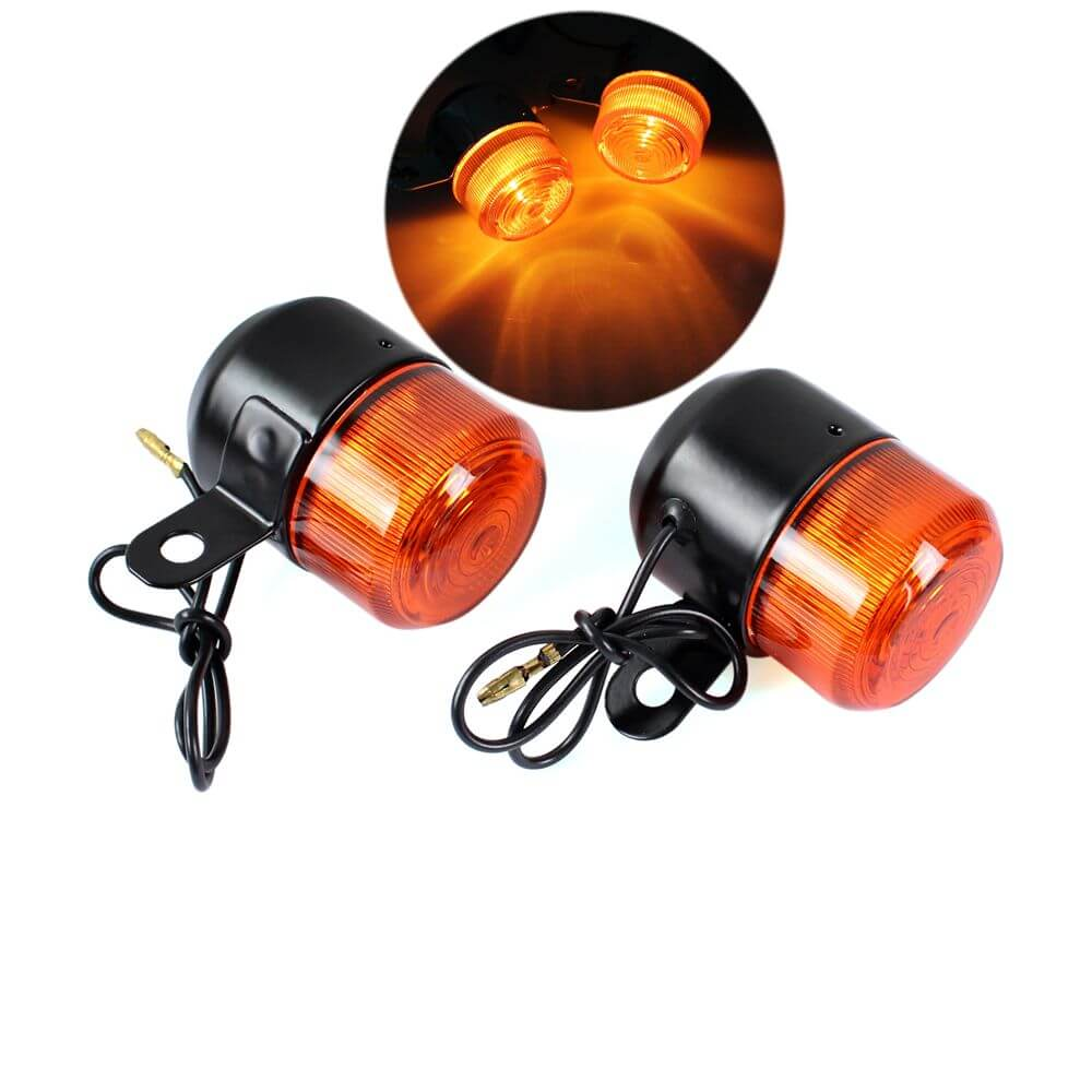 Motorcycle  Turn Signal Light Blinkers Flashers Amber Bulb For Honda Z50 ST50 ST70 CT70 Turn Indicators