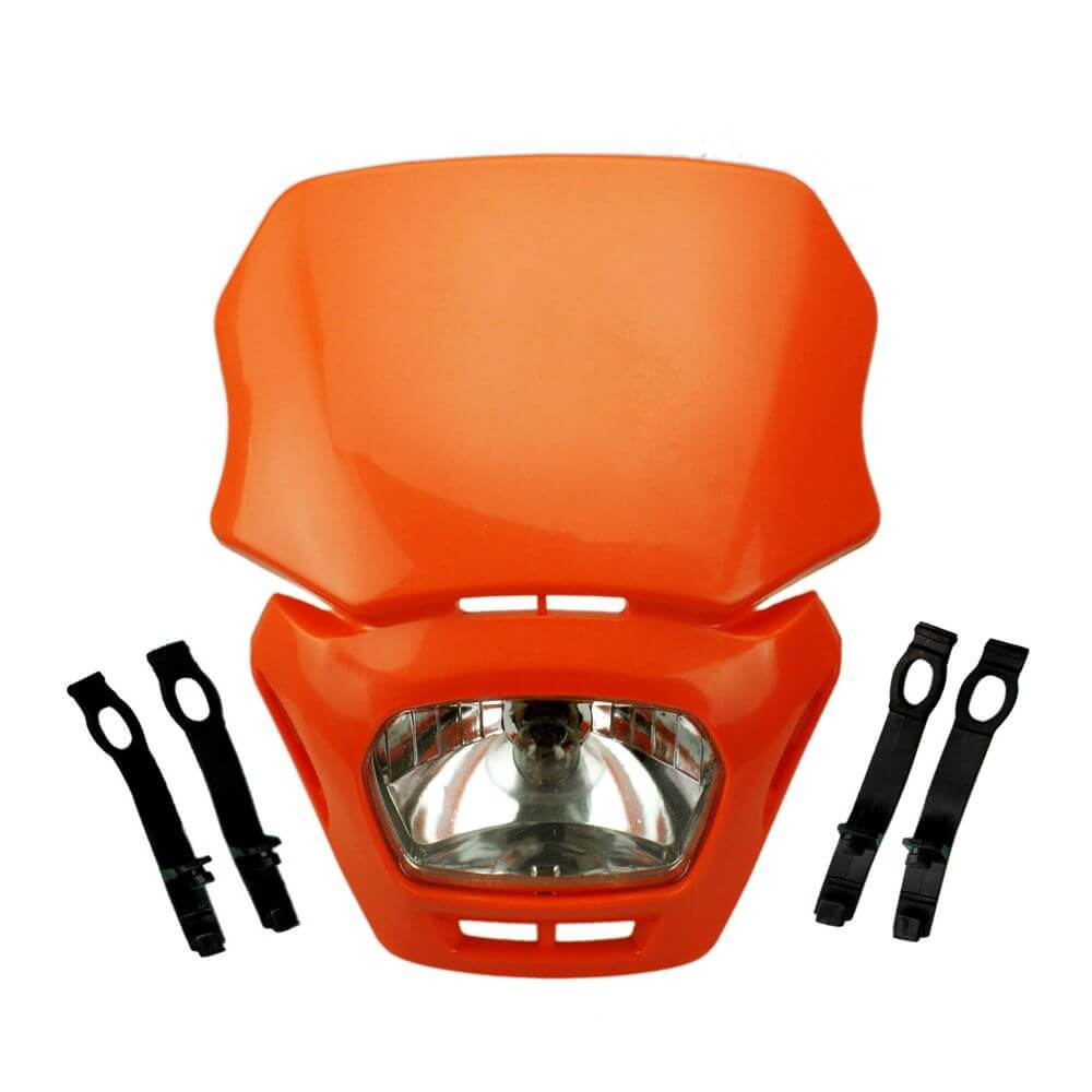 Motorcycle Universal Motocross Headlight For Dirt Bike Dual Sport Head Lamp Fairing For Honda Yamaha Suzuki Kawasaki