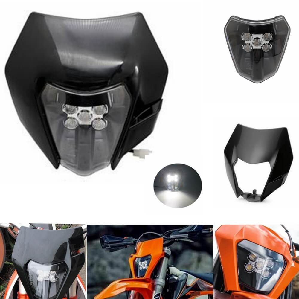 NEW LED Headlight Dual Sport Headlamp With Shell For KTM 200 300 350 500 XC-W SIX DAYS EXC-F EXC 79614901000 2014-2020