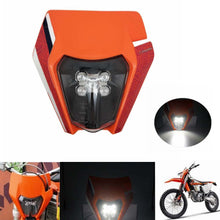 Load image into Gallery viewer, Orange Enduro Dirt Bike E8 Headlight For KTM 125-530 EXC TPI Six Days MXF 250rx Husqvarna Kawasaki KXF Yamaha YZF