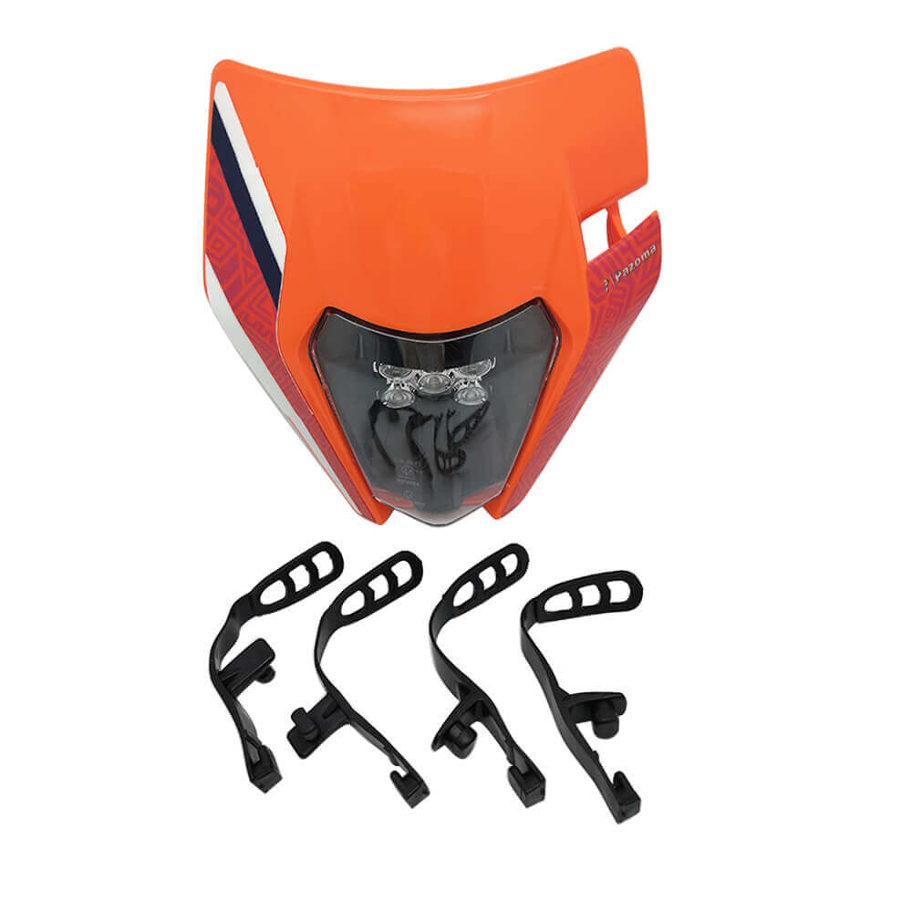 Orange Enduro Dirt Bike E8 Headlight For KTM 125-530 EXC TPI Six Days MXF 250rx Husqvarna Kawasaki KXF Yamaha YZF