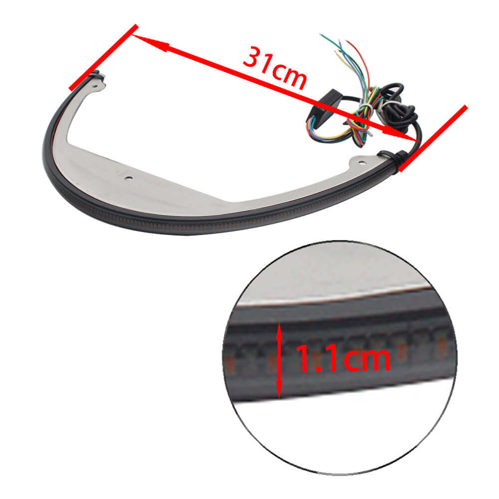 Rear Fender LED Turn Signal Brake Tail Light for Suzuki Boulevard M109R M90 06-UP Light Bar Kit