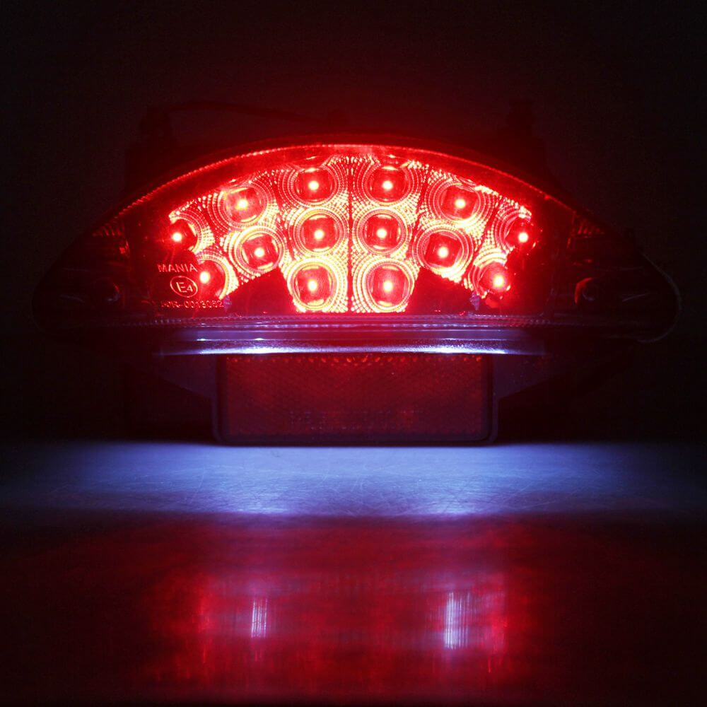 Red LED Motorcycle Taillights License Plate Light For Adventure R1200R BMW F650 F650GS