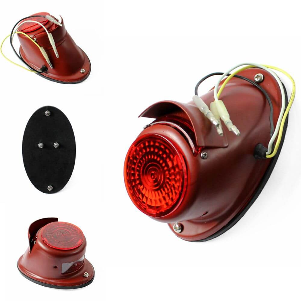 Red  Rear Light Sidecar Tail Light Fender Brake Stop Indicator Lamp for BMW Zündapp DB DS DBK KS KS750 R12/R75/R51/R61/R66/R71