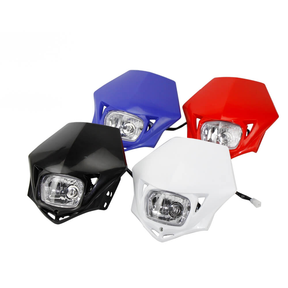 Suppermoto Enduro MX Dual Sport Head Light Universal Head Lamp for Suzuki Yamaha YZ85 YZ125 YZ250 YZ450 WR250 WR450 F FX TTR TT-R 230