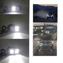 "Load image into Gallery viewer, UTV Rear Side View Mirror w/ LED Spot Lights For Polaris RZR 900 1000 1.75"" 2"" With LED Spot Light Rock Lights DRL"