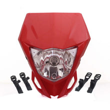 Load image into Gallery viewer, Universal Motorcycle 35W 12V Front Headlight Mask For Yamaha WR250F WR450F Kawasaki KLX KX Motocross Head Light Headlamp Dirt Bike