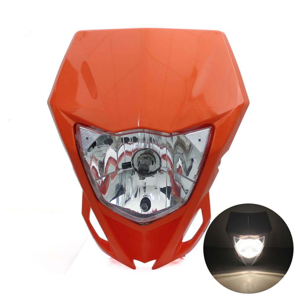 Universal  Motorcycle 35W Headlight For Yamaha WR250F YZ85 YZ125 YZ250  Kawasaki