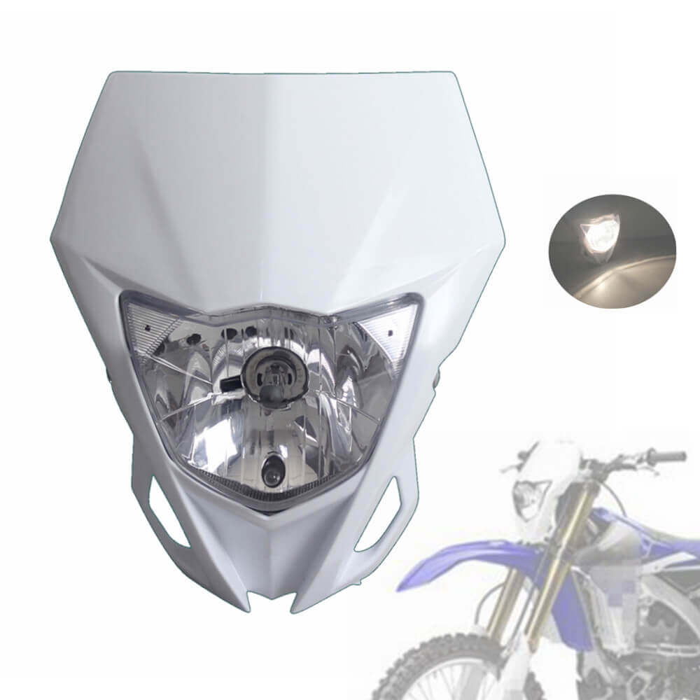 Universal  Motorcycle Headlight White Headlamp For YAMAHA WR250F 2015-2018 WR450F 2018 MX Enduro Dirt Bike CRF YZF DRZ KLX