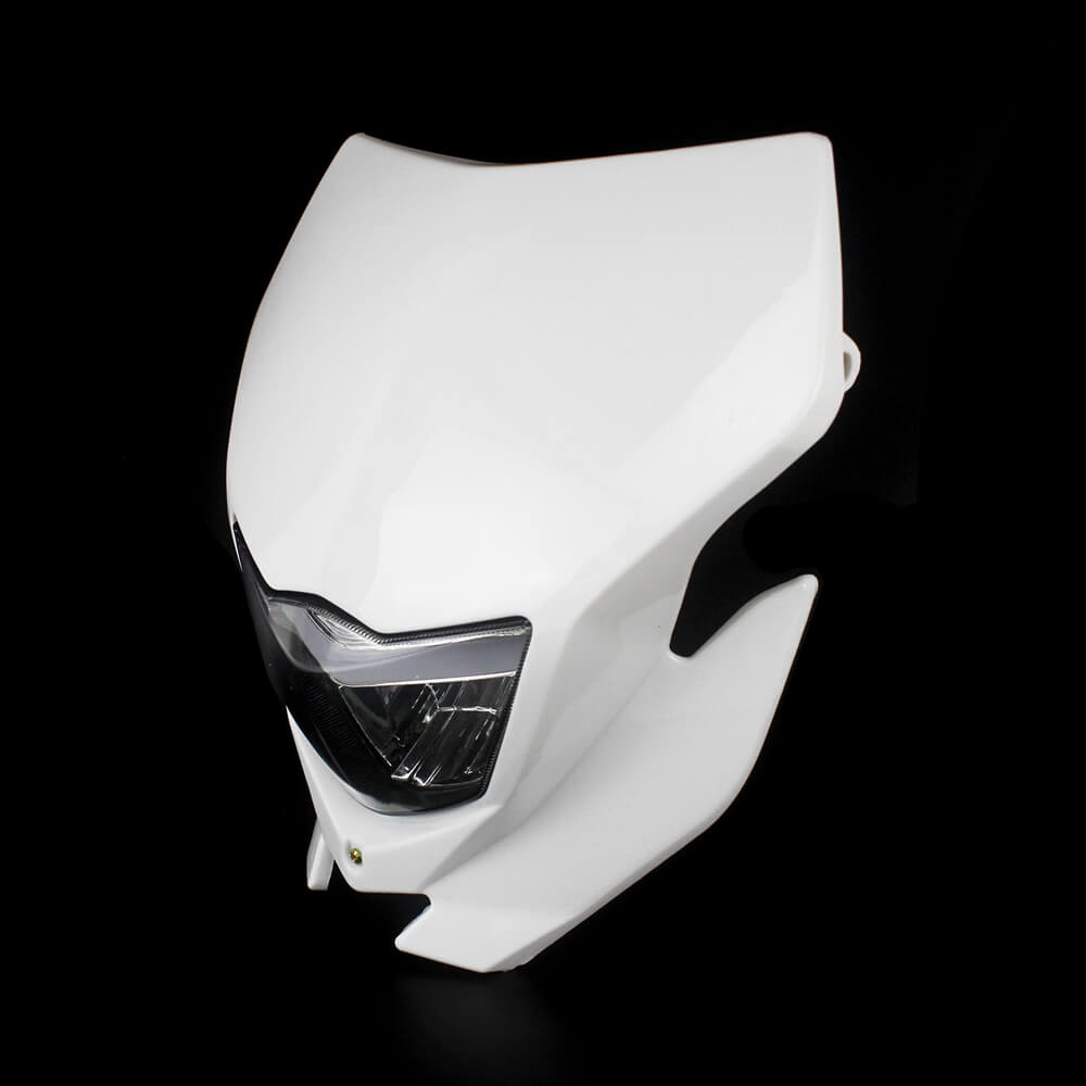 White Color  Supermoto Dirt Bike Headlight Fairing For Yamaha WR450F WR250F YZ YZF TTR DR RM