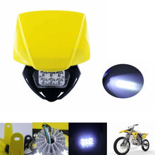 Load image into Gallery viewer, Yellow LED Enduro Headlight Dirt Bike Head Light Fairing For Yamaha TTR230 WR250F/X WR450F YZ XT