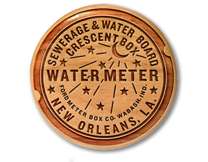 New Orleans Water Meter Woodblock
