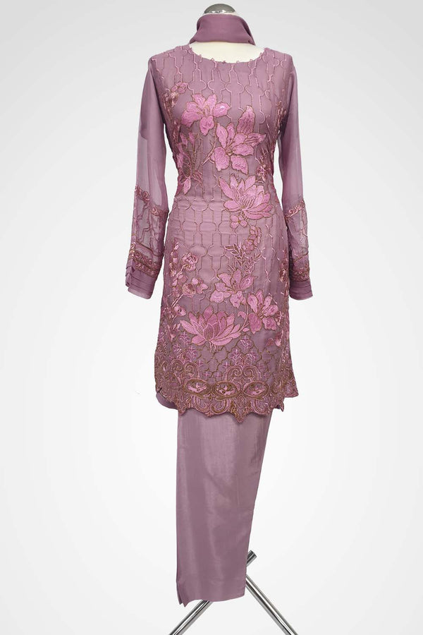 KC 101 Light Purple Embroidered Suit