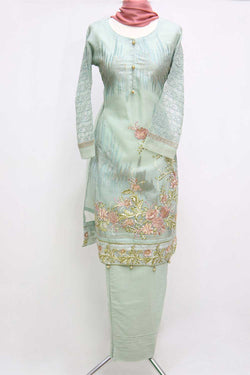 KC 68  Dusty Green Embroidered Suit