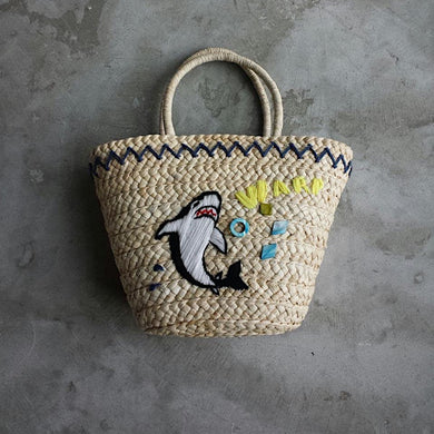 Shark straw summer bag
