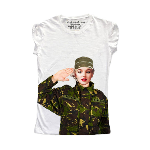 Blonde Soldier Women T-Shirt